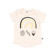 Milk & Masuki Short Sleeve Tee - Rainbow (ONLY 0-3 & 3-6 MONTHS LEFT)