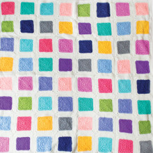 O.B. Designs Crochet Blanket - Patchwork Rainbow