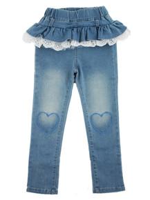 Curious Wonderland - Lace & Frill Denim Jeans