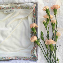 Lyns Label - Pure Organic Bamboo Jersey Swaddles - Ltd Edition Floral Edging