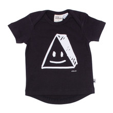 Milk & Masuki Short Sleeve Baby Tee - Triangle Face (ONLY NEWBORN & SIZE 3-6M LEFT)