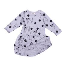 Milk & Masuki Bodysuit Dress - Pugs Meterage (ONLY SIZE 0-3 & 3-6 MONTHS LEFT)