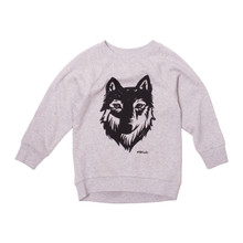 Milk & Masuki Crew Neck Jumper - Wolf (LAST ONE LEFT - SIZE 2 YEARS)