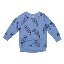 Milk & Masuki Crew Neck Jumper - King of the Bush (LAST ONE LEFT - SIZE 2 YRS)