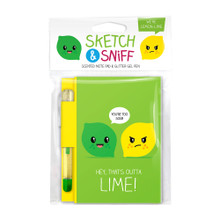 Scentco Sketch & Sniff Note Book and Gel Pen - Lime