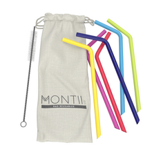 Montii Reusable Silicone Straws (6 Pack)