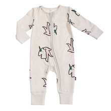 Anarkid Long Sleeve Zip Romper - Unicorn