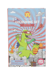 Tiger Tribe 3D Colouring Set - Sci Fi Fun