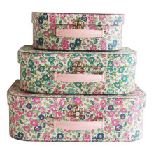 Alimrose Suitcase Set - Petit Floral Teal Pink (OUT OF STOCK)