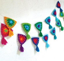 O.B. Designs Crochet Bunting - Rainbow