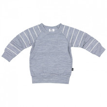 Little Flock of Horrors - Slasher Top - Grey Marle Stripe