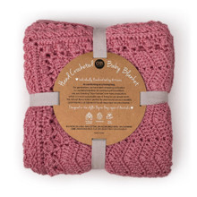 O.B. Designs Crochet Blanket - Blush