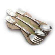 Kleynimals Three Piece Baby Flatware Set – Safari Friends