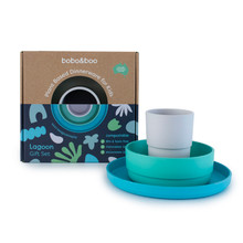 bobo&boo Plant-based Dinnerware Set - Lagoon