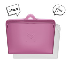 Montii Silicone Pack and Snack Bags - Rose