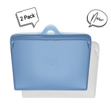 Montii Silicone Pack and Snack Bags - Slate