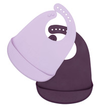 We Might Be Tiny Catchie Bibs - Plum + Lilac