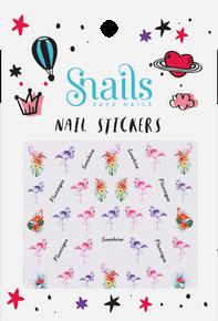 Nail Stickers Flamingo