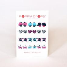 Poppy Drops Pierce Free Earrings - Girls Rock Collection