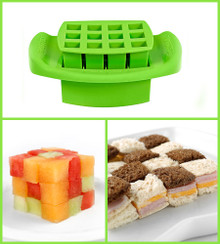 Funbites Squares Green - Creates 12 perfect sized squares! (OUT OF STOCK)