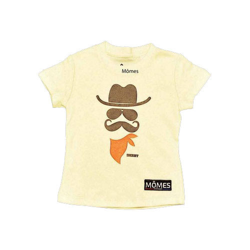 Momes Tee - Clint the Courageous Cowboy - Off White (LAST ONE LEFT - SIZE 18 MONTHS)