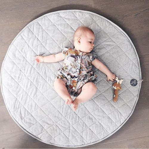 Mister Fly Quilted Reversible Playmat - Chambray / Light Grey (OUT OF STOCK)