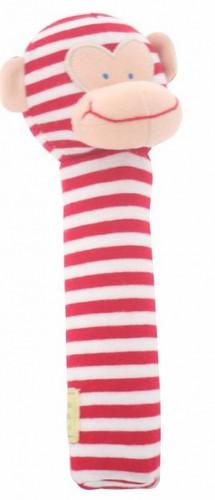 Alimrose Monkey Hand Squeaker - Red Stripe