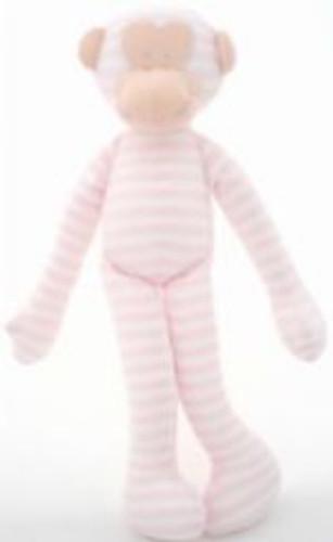 Alimrose Monkey Rattle - Pink