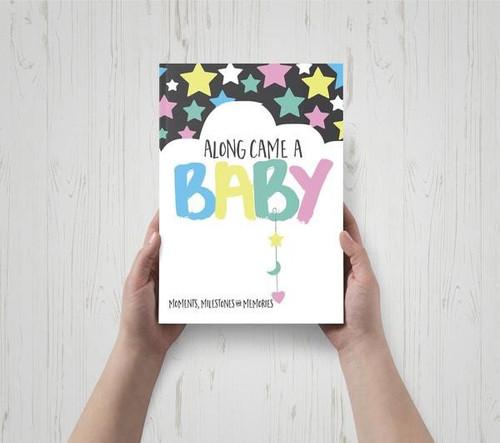 Along Came A Baby - Baby Milestone Book