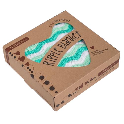 O.B. Designs Crochet Blanket - Mint