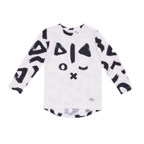 Milk & Masuki Long Sleeve Tee - Geo Cat (LAST ONE LEFT - SIZE 3 YEARS)