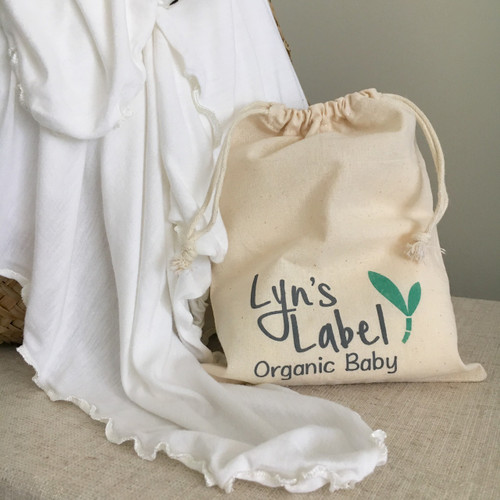 Lyns Label - Pure Organic Bamboo Jersey Swaddles - Wave