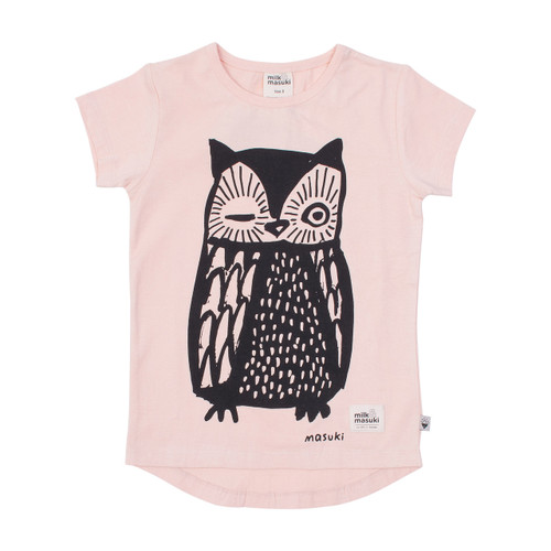Milk & Masuki Tee - Owl (LAST ONE LEFT - SIZE 5 YEARS)