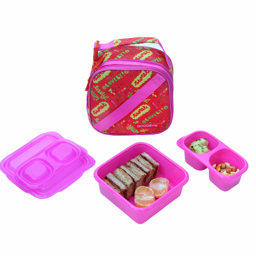 Goodbyn Expandable Lunch Kit - Hello (Pink)