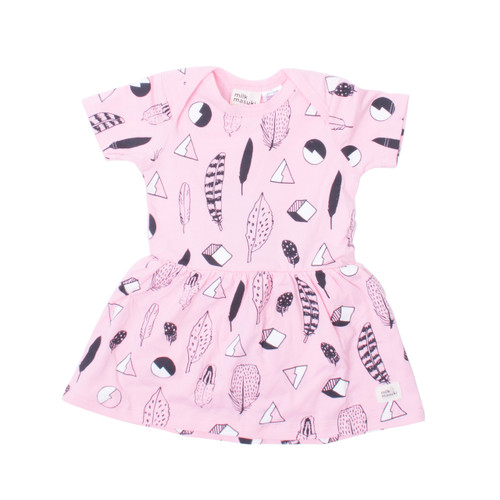 Milk & Masuki Bodysuit Dress - Feathers Meterage