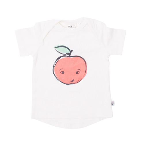 Milk & Masuki Short Sleeve Baby Tee - Apple