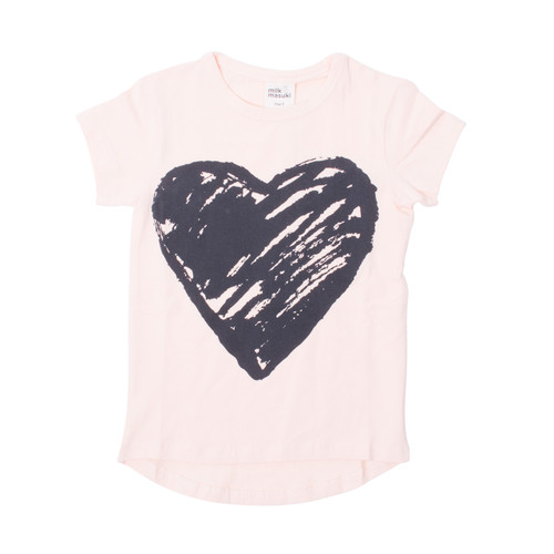 Milk & Masuki Tee - Painted Heart