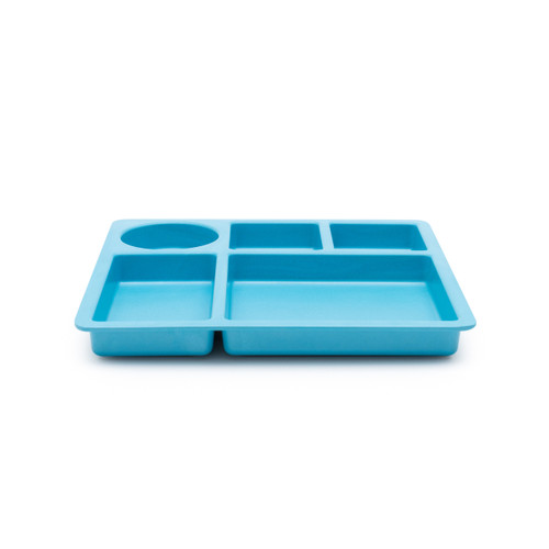 bobo&boo Individual Divided Plate - Dolphin Blue