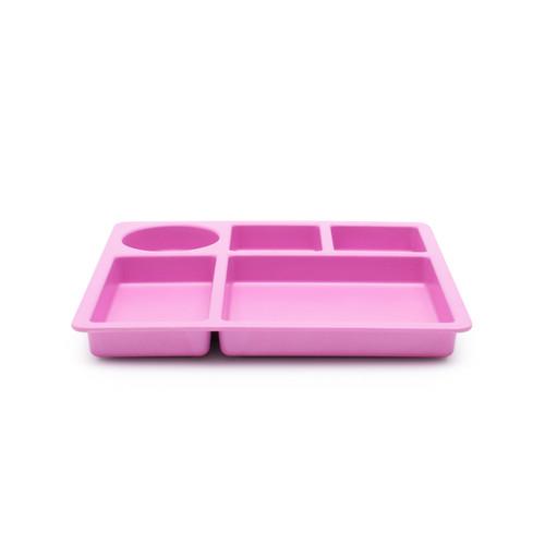 bobo&boo Individual Divided Plate - Flamingo Pink