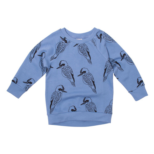 Milk & Masuki Crew Neck Jumper - King of the Bush (ONLY SIZE 2 & 4 YEARS LEFT)