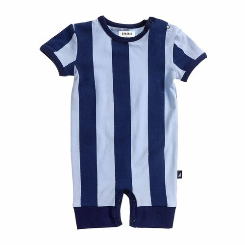 Anarkid Short Sleeve Romper - Navy