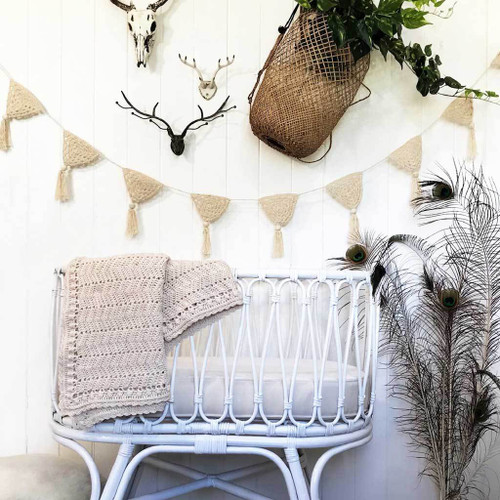 O.B. Designs Crochet Bunting - Natural