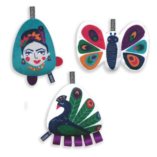 O.B. Designs 3 Piece Toy Set - Peacock Paradise