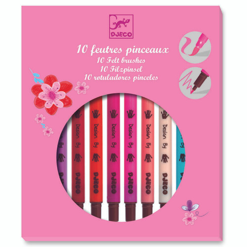 Djeco Felt Brushes - Pink