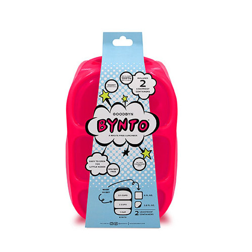 Goodbyn Bynto with Dipper Set - Neon Pink Red
