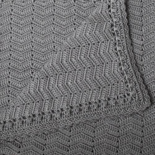 O.B. Designs Crochet Blanket - Grey