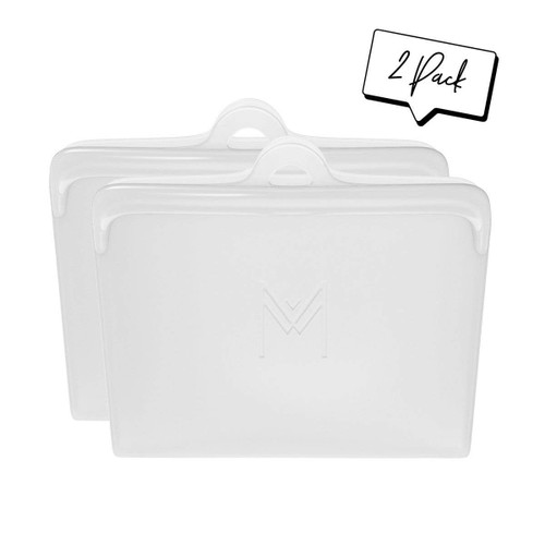 Montii Silicone Pack and Snack Bags - Clear
