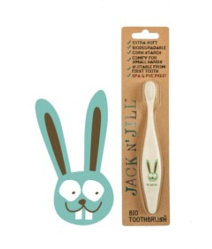 Jack and Jill Biodegradable Toothbrush - Bunny