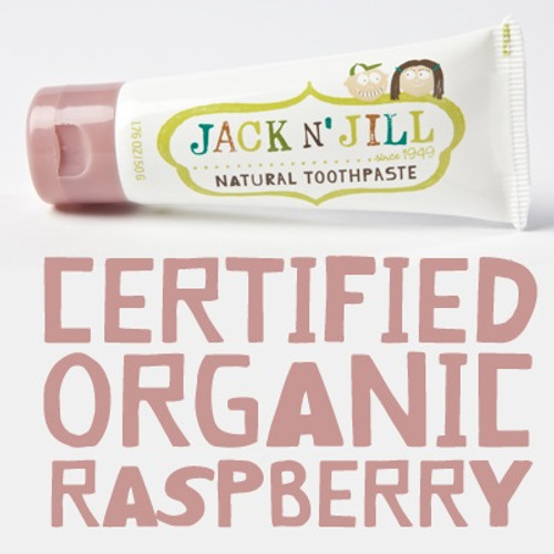 Jack and Jill Natural Toothpaste - Raspberry (OUT OF STOCK)
