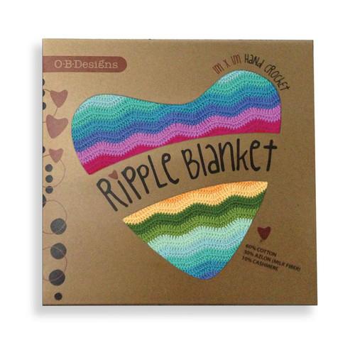 O.B. Designs Crochet Blanket - Rainbow